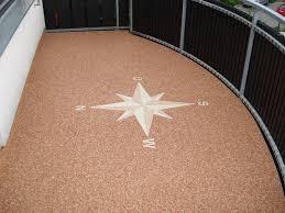 steinteppich balkon privat steindesign kieselbeschichtung steinteppich