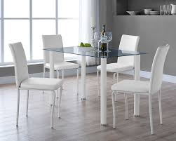 comfortable clear dining room table on furniture with serene small