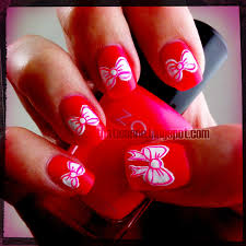 thatleanne valentines bow nail art how to