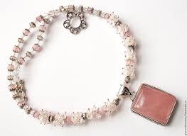 quartz rock necklace images Buy necklace quot denmark quot natural rose quartz rock crystal on jpg