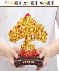zsr703 lucky money tree ornaments business gifts shaking qian shu