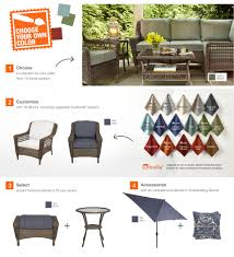 Patio Furniture Slip Covers - hampton bay spring haven grey wicker patio loveseat with cushion