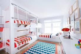 Blue And Red Boys Bedroom Red White And Blue Boys Bedroom With Bunk Bed Ladder