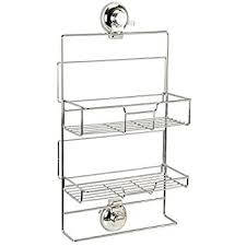 croydex twist u0027n u0027 lock small storage basket chrome amazon co uk