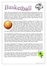 Halloween Mad Libs Esl by 21 Free Esl Basketball Worksheets