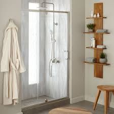 48 Shower Doors 48 Osborne Adjustable Pivot Shower Door Bathroom