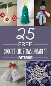 25 free crochet christmas ornament patterns crochet christmas