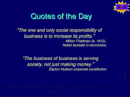 quote of the day business ppt business ethics and social responsibility powerpoint