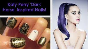katy perry u0027dark horse u0027 inspired nails youtube
