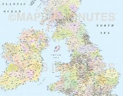 British Isles Map Adm British Isles County Region Admin Map 1 5m Scale Transverse