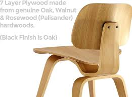 eames molded plywood dcw dining chair wood replica oak
