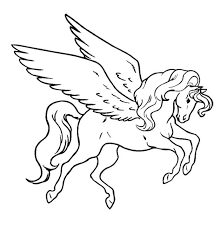Flying Unicorn Coloring Pages Fablesfromthefriends Com Unicorn Coloring