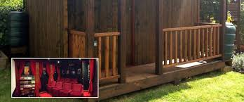 Backyard Home Theater Hobbit Hole U0027 Friends Build Home Movie Theater In Backyard Cabin