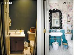 Narrow Powder Room - small powder room makeover the chronicles of home