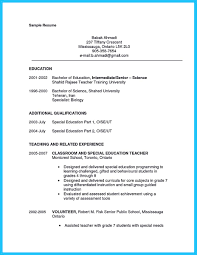 Teaching Sample Resume by Ese Teacher Resume Free Resume Example And Writing Download