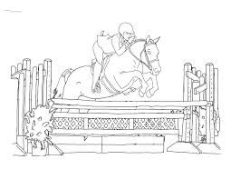 wonderful looking horse jumping coloring pages jumping page