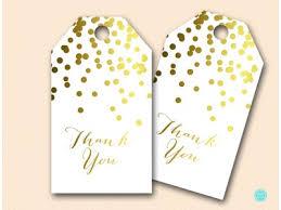 bridal shower favor tags gold confetti bridal shower gold foil magical printable