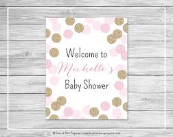 baby shower welcome sign pink and gold baby shower welcome sign printable baby shower