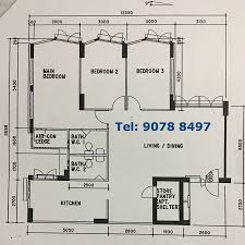 Hdb Flat Floor Plan 5 Room U2013 Improved Categories Resalehdbflatclassifieds Com
