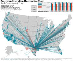 Migration Map Interactive Migration Map Demographics County American