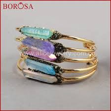 natural quartz crystal bracelet images Buy borosa crystal bangle natural aura quartz jpg