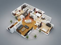 3d home plan trendy house art interior pinterest house