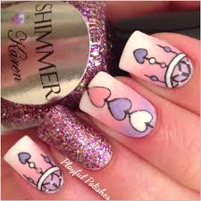 playful polishes dream catcher nail art valentines day nails