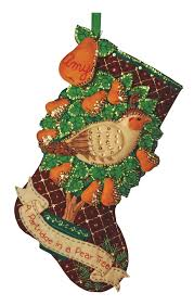 partridge in a pear tree bucilla christmas stocking kit
