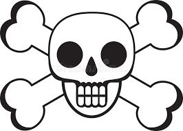 skull and cross bones stock vector illustration of fear