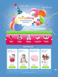 website template 38173 party king business custom website