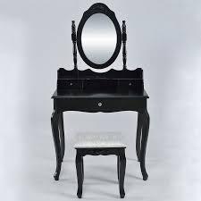 belleze vanity set vintage style table makeup desk with mirror