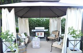 Outdoor Gazebo With Curtains Outdoor Curtains Patiopizazzcom U Gazebo Drapes Patiopizazzcom