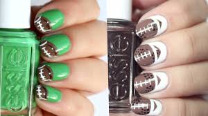 2 easy football nail art designs last minute superbowl nail