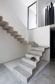 u shaped concrete staircase casa garcias by warm architects up
