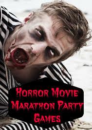 horror movie marathon teen party games movie marathon party