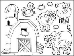 farm animal coloring pages to inform kids about where meals come