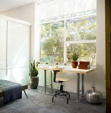 window plants home office modern with leather ottoman black piano