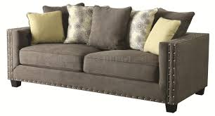 sofa in grey fabric 501421 by coaster w options