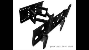 60 Inch Flat Screen Tv Wall Mount Mount It Mi 310b24 Articulating Dual Arm Tv Wall Mount For 32 60