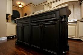 black distressed kitchen cabinets u2014 smith design black kitchen