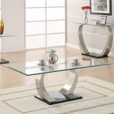 Glass And Metal Sofa Table Top U0026 Curved Metal Legs Modern Coffee Table W Options