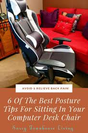 Computer Desk Posture 6 Of The Best Posture Tips For Sitting In Your Computer Desk Chair Sassy Townhouse Living Png