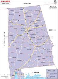 Interstate Map Of The United States by Alabama Road Map Alabama Highways Map Alabama Interstates