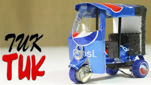 how to make an electric rickshaw tuk tuk out of pepsi cans