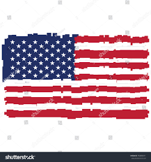 Flag Of The United States Of America Pixelated Flag United States America Vector Stock Vector 754809271