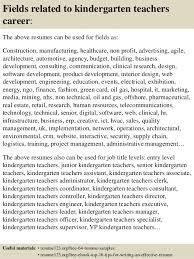 Teachers Resumes Samples by Top 8 Kindergarten Teachers Resume Samples