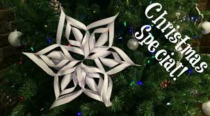 easy 3d paper snowflake christmas u0026 winter decorations youtube