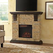 home decorators collection highland 40 in faux stone mantel