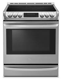 lg appliances slide in stainless steel electric convection range
