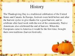History Of Thanksgiving For Thanksgiving Day